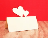 Wedding Place Cards Double Heart Set of 125