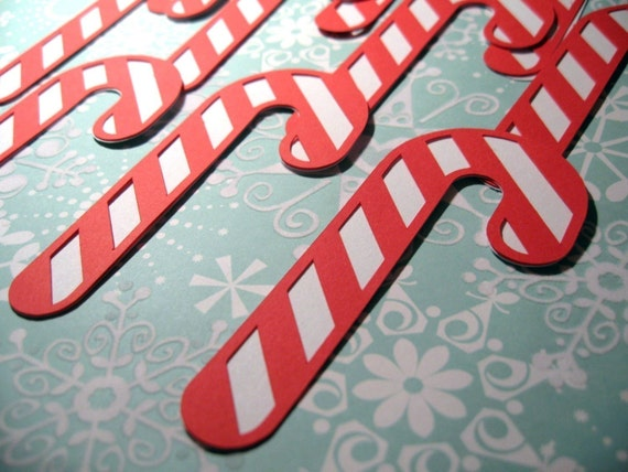 Candy Canes Die Cuts Set of 10
