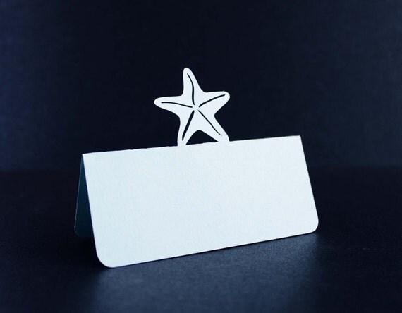 Wedding Starfish Place cards Set of 50