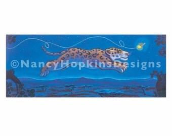 """Print """"Leopard Leap"""""""
