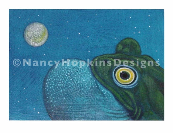 """Print """"Frog with Moon"""""""