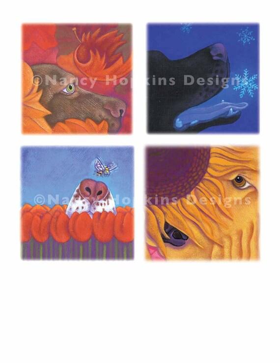 """Print """"A Dog for Every Season"""" (Retriever, Labrador, Springer Spaniel)"""