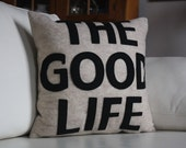 """THE GOOD LIFE 16"""" x 16"""" Recycled Felt Applique Pillow"""