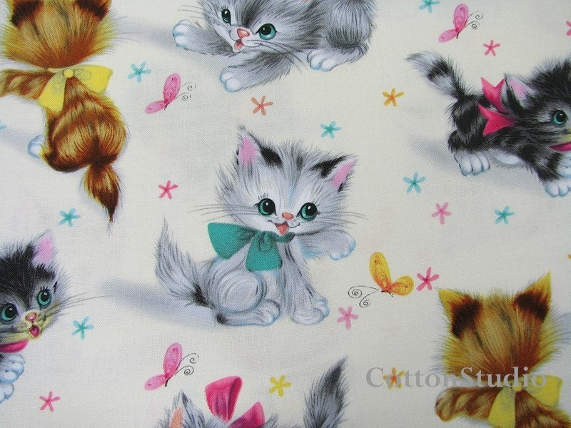 Kitties Michael Miller Fat Quarter Cat Fabric