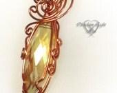 Summer Drop Crystal Copper Pendant
