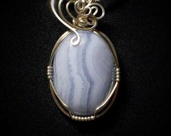 Soft Agate Dreams Silver Pendant