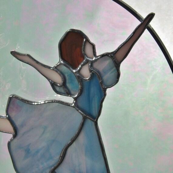 Ballerina  Stained Glass Layered Suncatcher