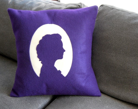 Momma's Boy, Daddy's Girl Custom Silhouette Pillow-- Your Photo, Your Silhouette- Perfect Gift for Mother's Day, Anniversaries and Weddings