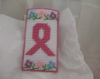 Eyeglass Case for your Readers, Needlepoint Eyeglass Case, Breast Cancer Eyeglass Case