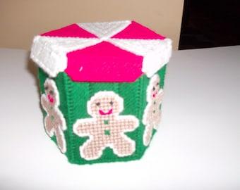 Christmas Gingerbread  Box, Octagon Gingerbread Box, Christmas Octagon Storage Box