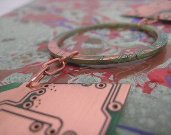 Color Me Cloak Upcycled RoHS Circuit Board Necklace