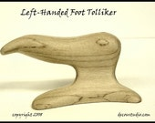 Built-to-Order, Foot Tolliker, New Hat Making Millinery Tool Creasing the Brim to Crown Shaping, LEFT Handed, Hardrock Maple Wood