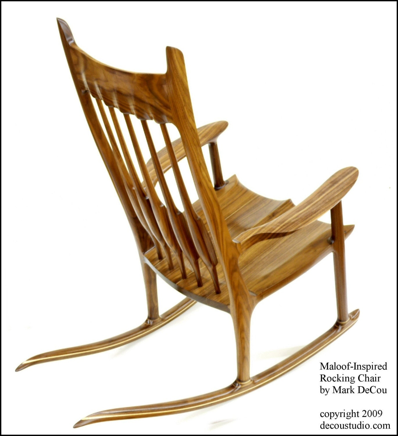 Built to Order Sam Maloof Inspired Handmade Rocking Chair