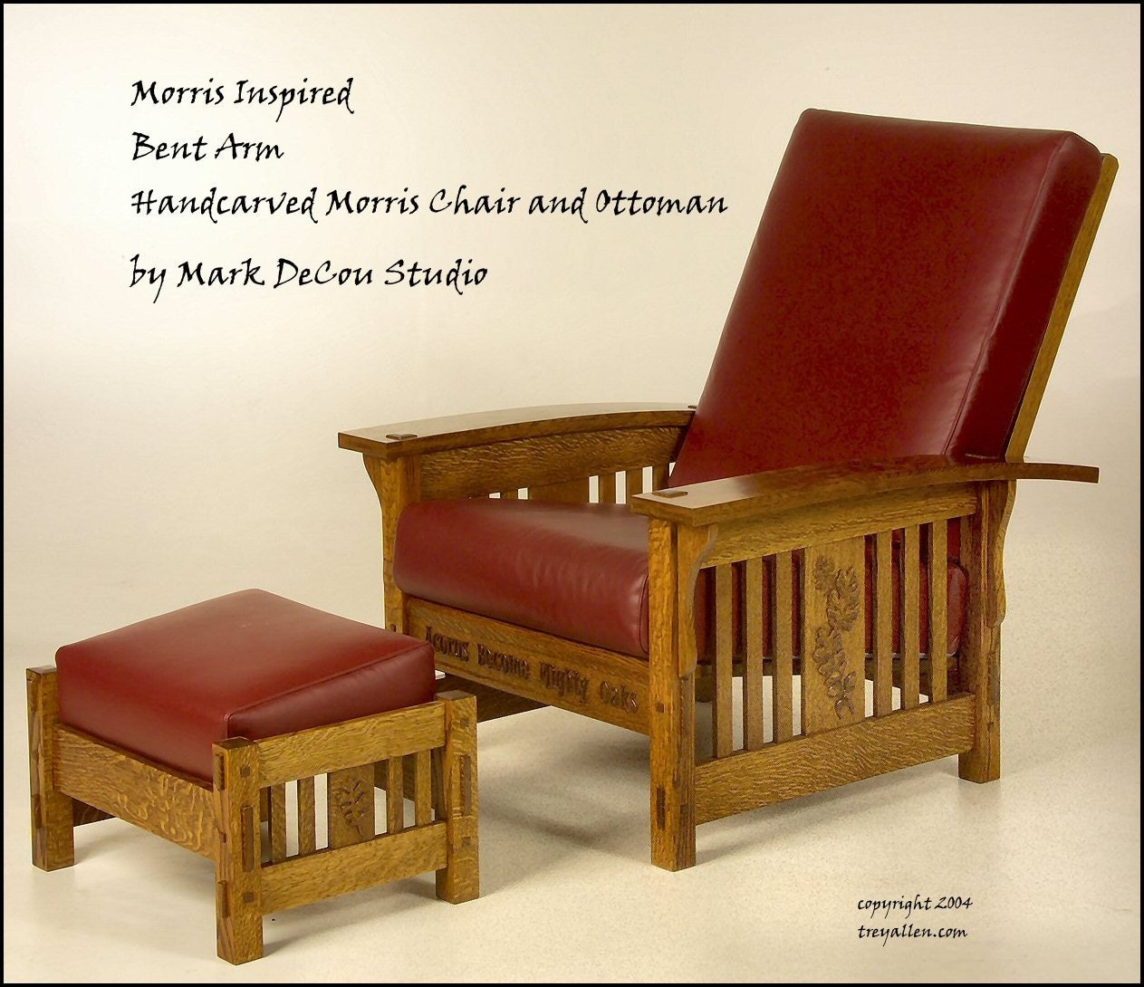 Morris chair cushions - Built To Order Morris Style Curved Arm Lounge Chair And Ottoman Arts And