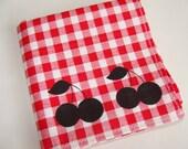 Cherry Handkerchief, 1 Silk-Screened Sneezy Sheet