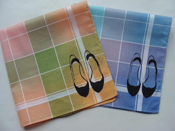 Sneezy Sheets, 2 Silk-Screened Handkerchiefs