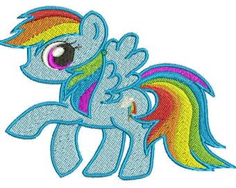 Rainbow Dash Embroidery Design File - Pick Your Size & Format