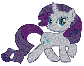 Rarity Embroidery Design File -  Pick Your Size & Format