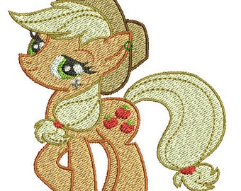 Applejack Embroidery Design File - Pick Your Size & Format