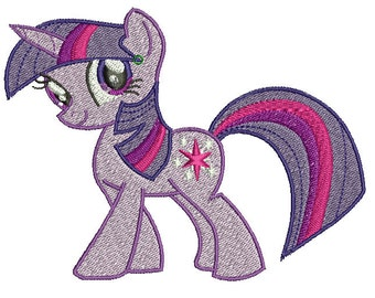 Twilight Sparkle Embroidery Design File - Pick Your Size & Format