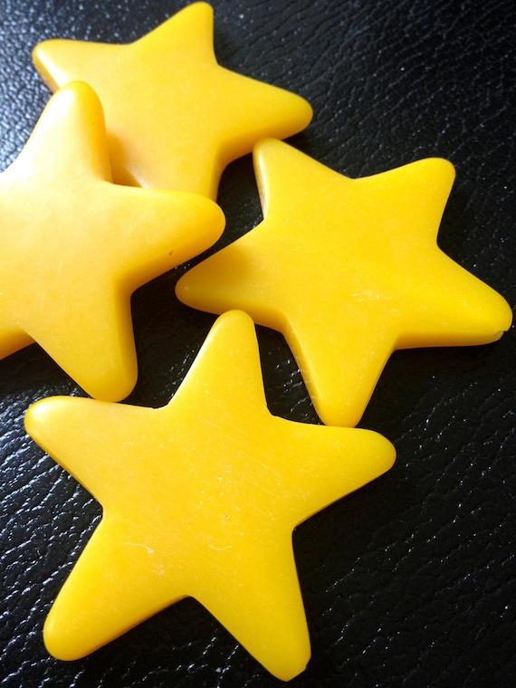 NEW ARRIVAL - STARS - Resin - Large - 5 pcs - 38 mm
