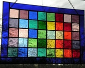 Stained Glass Panel window rainbow pattern