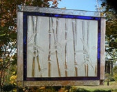 Origional Stained Glass Bamboo Glass with Cobalt accent