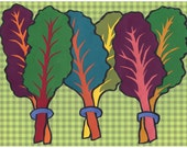 Farmer's Market Rainbow Chard Print FREE SHIPPING