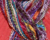 JEWEL TONE KNOTTED NO SEW YARN SCARF - FUNDS FOR MISSION TRIP