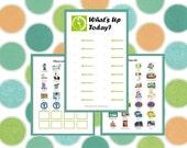 Preschooler Calendar - Preschooler Schedule - Visual Schedule - Child To Do List - PDF INSTANT DOWNLOAD