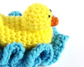 Duck Washcloth Scrubbie Bath Toy Crochet Pattern PDF INSTANT DOWNLOAD