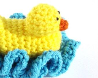 Duck Washcloth Crochet Pattern - Bath Scrubbie - Bath Toy - PDF INSTANT DOWNLOAD