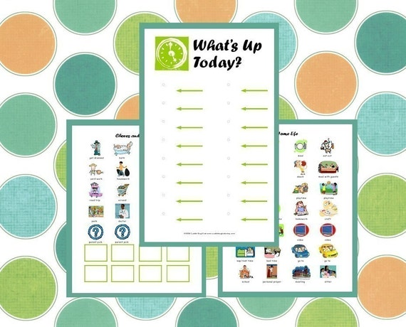 Preschooler Calendar - Preschooler Schedule - Visual Schedule - Child To Do List - PDF INSTANT DOWNLOAD