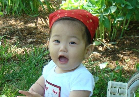 PDF Toddler Bandana Head Scarf Pattern