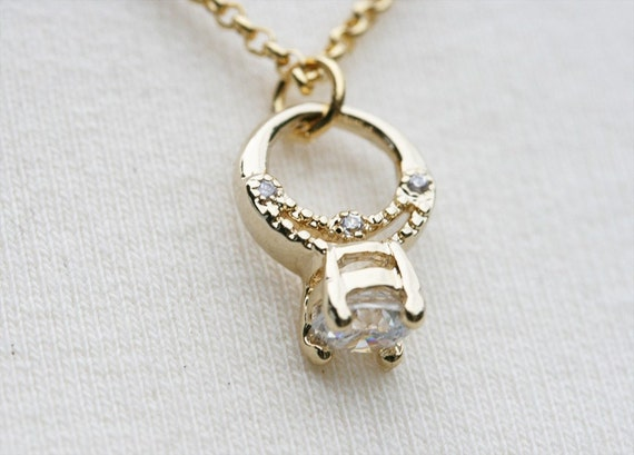 Promise - Solitary Ring Necklace