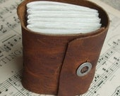 Little Chunky Leather Journal with Antique Metal Button