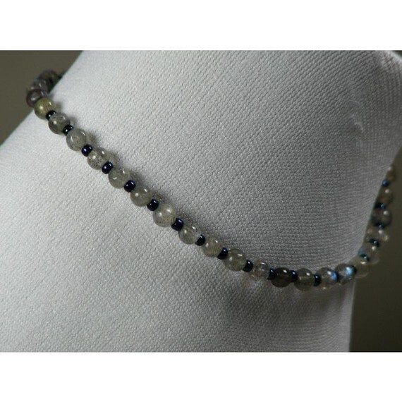 Labradorite Beaded Ankle Bracelet