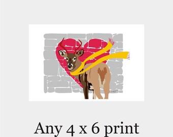 Any Print As A 4x6 - Office Decor,Minimalist Art,Poster Gift Home Decor Birthday gift for her Wall Decor,modern art,nursery art,kitchen art,