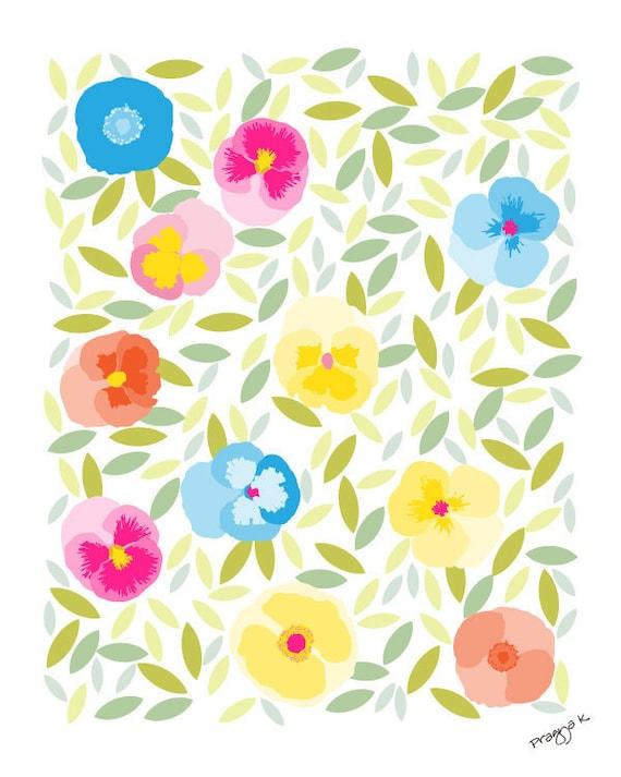 Flower art print-Ever Bloom-Pansy Art,pansy Print,Floral Print,Floral Art,Floral Decor,Home Decor,Rustic Decor,Gallery Wall Print,Dorm Decor