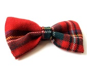 Tartan Bow Brooch / Pin - Royal Stewart Tartan
