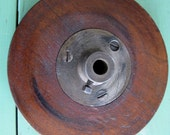 Vintage Wooden Pulley