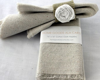 20 Cloth Napkins Unbleached Cotton