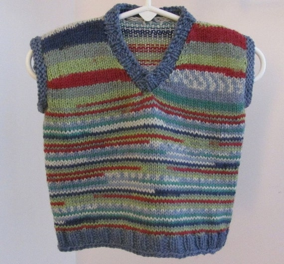Adorable Vest Hand Knit with Soft light weight sock wool
