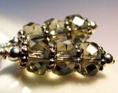 Smoke - Czech Glass and Sterling Silver Earrings