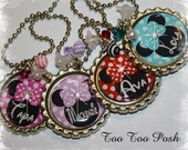 Personalized Mouse Inspired Bottle Cap  Necklace