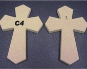 "5 9 x 12 x 1/2""  Wooden Cross made from  MDF, Your choice of 5 from 8 Cross Styles, Free Shipping , 9-14"