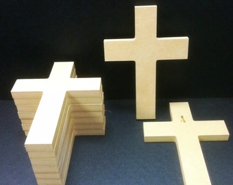 100 Unpainted 6'' x 9'' Crosses, 1.25 ea., Great for VBS, Free Shipping VBS100-3