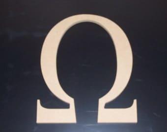 "2 12"" Unfinished Wooden Greek Letters, 12.00 ea. Alpha, Omega, Beta, Mu, Tau, Delta FREE SHIPPING 12GK50X2  121"