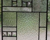 Clear Textured Glass and Bevels 9.75x21.25 Collage Glass Panel - Antiqued