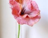 Hand Felted Fantasy Flower Petal Pink